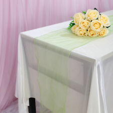 Multi Use Sheer Organza Table Runner Chair Sash Soft Tulle Fabric Wedding Decor