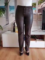 Damen Hose Lederhose Lederjeans Lederpants MADDOX wie NEU  Gr. 36 - 38
