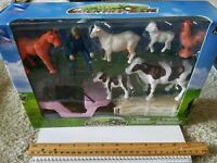 New Ray Country Life Lady (girl ) Rancher farmer with animals +accessories NEW