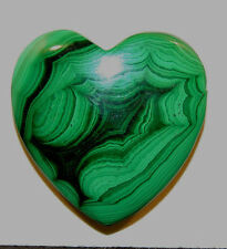 Malachite Heart 30x31mm with 9mm thick drilled hole in top (11763)