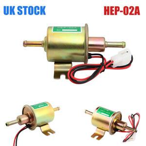12V HEP-02A Universal Electric Fuel Pump Low Pressure Inline Petrol Diesel Car