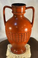 "Vintage MCM Haeger USA Art Pottery Urn, Handled Vase 13"" Tall"
