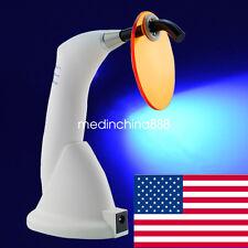 White -Gun type Dental 10W Wireless Cordless LED Curing Light Lamp 1500mw-USA