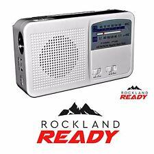 Emergency Weather Radio AM/FM/NOAA Solar Crank Flashlight - Rockland Ready