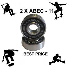 2 Velocity Abec 11 Wheel bearings Skateboard scooter Quad inline Roller skate 9