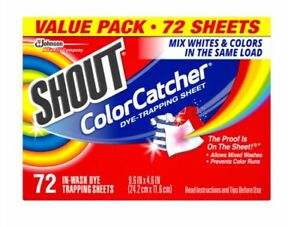 Shout Color Catcher Dye Trapping Sheets, 72 Count