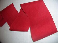 Band aus Leinen,  auch zum Sticken, rot, 12 cm breit,  1,5 m lang