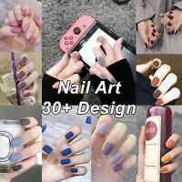 2020 Press On Acrylic Artificia Nails Art Self Adhesive French Fake Nail Tips