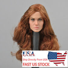 USA CGL TOYS T-10 1/6 Angelina Female Figure Head Sculpt Model Fit Seamless Body