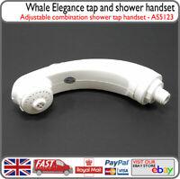 Whale Caravan Motorhome White Elegance Shower Head Tap Combination Handset