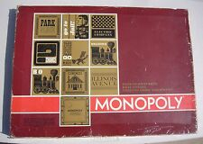 Vintage 1964 Monopoly Parker Brothers Red Box All Cards 30house 11Hotel 12tokens
