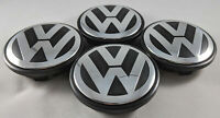 4x 70MM Wheel Center Hub Rim Caps Chrome Black For VW Volkswagen 7L6601149BRVC