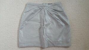 H&M EU 34 UK 6 Silver Shimmer Grey Short Skirt Summer Pretty Party Skirt