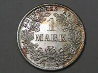 BU 1915-d Silver 1 Mark German Empire Coin.  #123