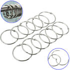 12Pcs Round Stainless Steel Shower Curtain Hooks Rings Anti Rust Restroom