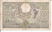 BELGIUM, 100 FRANCS = 20 BELGAS, 1941