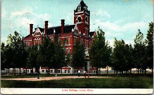 Vtg 1910 Lima College Campus Lima Ohio OH Postcard