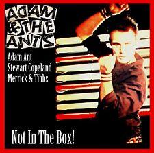 """ADAM & The ANTS  """"Not In The Box!""""  Rarities! (Adam Ant)  - 17 Rare Tracks!"""