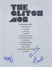 THE GLITCH MOB GROUP SIGNED 2014 LOLLAPOOLZA SET LIST