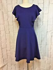 NWT Soprano 2X Blue Ruffle Sleeves Party Cocktail Dress Plus Size New P-11