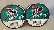 Lot of 2 Trilene Big Game Fishing Line 40lb 370 yds Clear