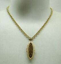 Lovely Heavy 9ct Gold Millenium Locket And Chain
