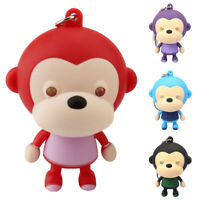Cartoon Monkey Animal LED Lighting with Sound Key Chain Keychain Pendant Charm
