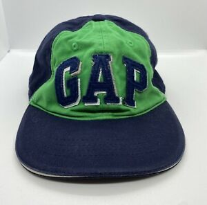 GAP Cap Hat Baby Fitted S/M 48-50 cm Blue Green 100% Cotton