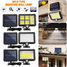 COB 100 LED Solar Wall Light Outdoor Garden Security Motion Sensor Lamp IP65