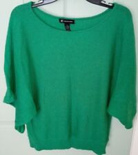 INC International concepts Green wide scoop neck short wide sleeve blouse (86)