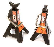 C25764BLACK Integy Model Model Jack Stands(2)for 1/10 & 1/8 Scale & Rock Crawler