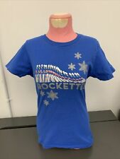ROCKETTES Radio City Christmas SHIRT! Blue, TOY SOLDIERS & Glitter Snowflakes! S