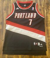 Adidas NBA Authentics Brandon Roy #7 Portland Trail Blazers Black Jersey Boys M