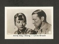 ANNA MAY WONG CLIVE BROOK CARD VINTAGE 1930s COLLECTION ROSS RAMSES FILM FOTOS