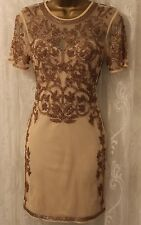 ASOS Mesh Baroque Bead Embellished Mini Shift Party Dress  6 34