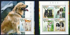 GUINE-BISSAU 2015 CAES DOGS CHIENS HUNDE DOMESTICATED ANIMALS PETS STAMPS MNH**