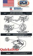 1973 74 75 76 Dodge Dart Jacking Instructions Trunk Lid Decal NEW MoPar