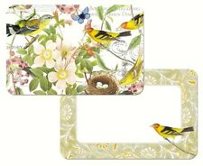 Botanical Birds Reversible Placemat Set of 6  Beautiful Birds and Flowers
