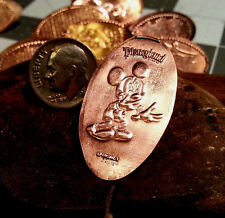 """Mickey Mouse """"Giggle"""" Disneylad- Golf Ball Marker Pressed copper Penny Ball Mark"""