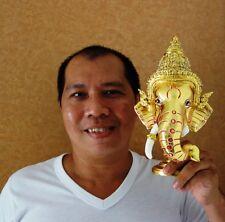 Ganesha Mask Khon god elephant head Art Handmade Thai traditional Free Shipping