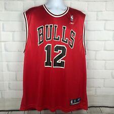 Chicago Bulls Mens XL Nylon Jersey Kirk Hinrich Red Reebok Authentic NBA 12
