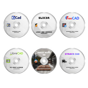 PRO CAD SOFTWARE PRODUCT - 6 PROGRAMS PC 2D 3D MODELING ARCHITECT DESIGN BUNDLE