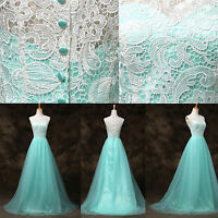 Vintage LACE Wedding Evening Formal Cocktail Mother Party Gown LONG Prom Dresses