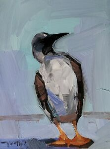 JOSE TRUJILLO Oil Painting IMPRESSIONISM CONTEMPORARY BIRD COLLECTIBLE ARTIST