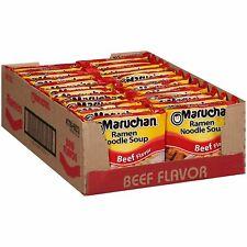 24 Packs Maruchan Ramen Beef Flavor Noodle Soup   Exp  04/21