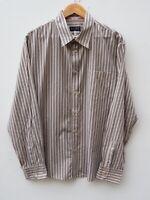 "Fantastic Genuine ARMANI JEANS Men's Long Sleeve Striped Shirt size XL / 44-46"""