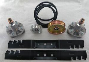 """42"""" Deck Kit John Deere Belt Mulch Blades Spindles L100 L108 L110 L111 L118 106"""