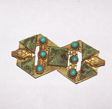 "Art Deco Czechoslovakian snake belt buckle 2.5"" x 1.5"""