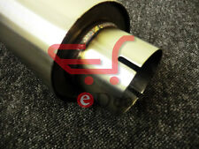 """Clamp-on Stainless Exhaust Silencer 4"""" Body 14"""" length 70mm I.D Tig Welded 2.75"""""""