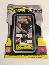 Series 8 Fitness Universal Active Phone Armband for Large Devices Black Silver
